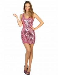 Disfraz disco vestido sexy rosa mujer