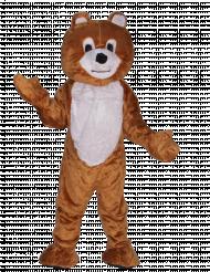 Disfraz de oso pardo mascota adulto lujo
