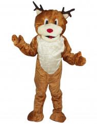 Disfraz de reno mascota de lujo adulto