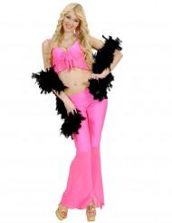 Disfraz disco sexy fluo rosa mujer