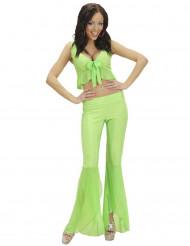 Disfraz disco sexy fluo verde mujer