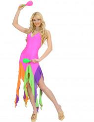 Disfraz barilarina brasileña fluo rosa mujer