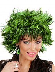 Pendientes rombos negros y verdes mujer