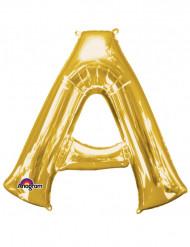 Globo Aluminio gigante letra A dorado 93 x 86cm