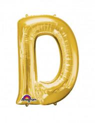 Globo de aluminio gigante dorado Letra D 60x83