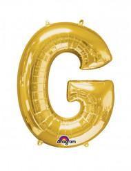 Globo de aluminio Gigante Dorado letra G 63x81cm
