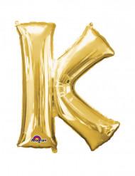 Globo Aluminio Gigante dorado letra K 66x83cm