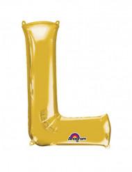 Globo Aluminio Gigante dorado letra L 58x81cm