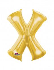Globo Gigante letra X dorado 68x88cm