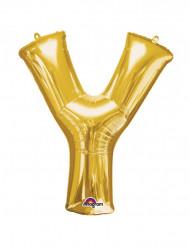 Globo gigante letra Y dorado 76x86