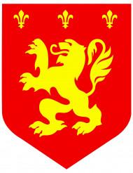 Decoración mural medieval rojo león 30 cm