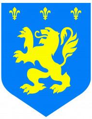 Decoración mural medieval azul 30 cm