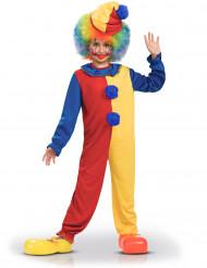 Disfraz de payaso bicolor niño