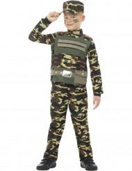 Disfraz militar camuflado niño
