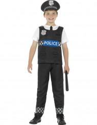 Disfraz policía negro y blanco niño
