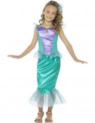 Disfraz sirena con escamas niña