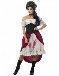 Disfraz pirata fantasma ensangrentado mujer Halloween