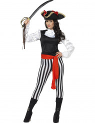 Disfraz pirata rayado mujer