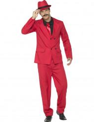 Disfraz de gánster rojo hombre