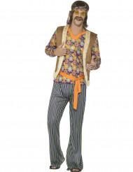 Disfraz cantante hippie años 60 hombre