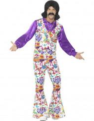Disfraz hippie cool años 60 hombre