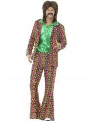 Disfraz hippie pacífico hombre