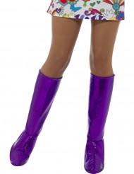 Cubrebotas violetas mujer
