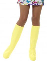 Cubrebotas amarillas mujer