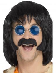 Kit hippie negro con bigotes y patillas hombre