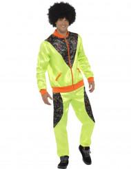 Disfraz chándal años 80 verde hombre