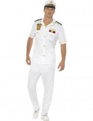 Disfraz capitán blanco hombre