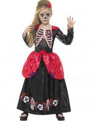 Disfraz princesa de las rosas niña Día de los muertos