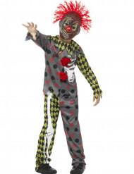 Disfraz esqueleto payaso loco niño Halloween