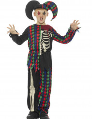 Disfraz esqueleto bufón niño Halloween