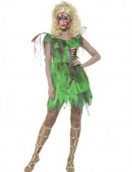 Disfraz hada verde zombie mujer Halloween