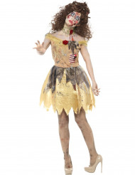 Disfraz hada dorada zombie mujer Halloween