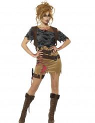 Disfraz cazadora zombie mujer Halloween