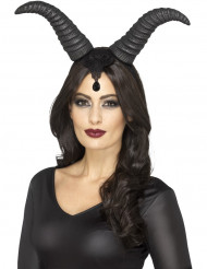 Cuernos reina demonio mujer Halloween