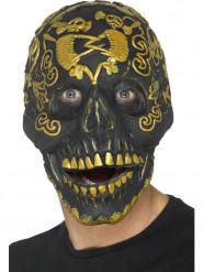 Máscara calavera dorada adulto Halloween