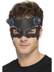 Antifaz picos negro con cuernos adulto Halloween