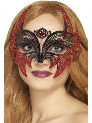 Antifaz metal murciélago mujer Halloween