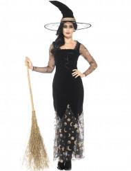 Disfraz bruja luna y estrella mujer Halloween