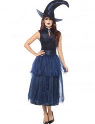 Disfraz bruja de media noche mujer Halloween