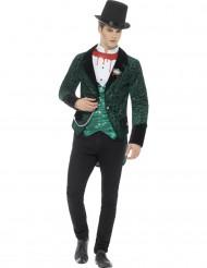 Disfraz vampiro victoriano verde hombre Halloween