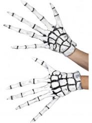 Guantes látex esqueleto segador adulto Halloween