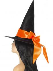 Sombrero negro con lazo naranja Halloween