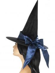 Sombrero negro con lazo azul Halloween