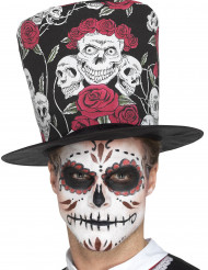 Sombrero de copa calavera adulto Día de los muertos