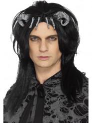 Peluca negra creatura demoniaca adulto Halloween