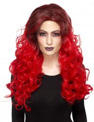 Peluca glamur rojo resistente al calor mujer